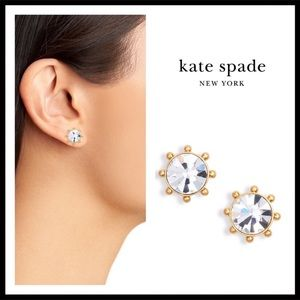 KATE SPADE SPARKLING CRYSTAL STONE STUDS EARRINGS